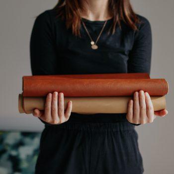 Handmade Leather Table Runner