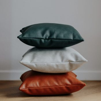 Handmade Leather Scatter Cushion