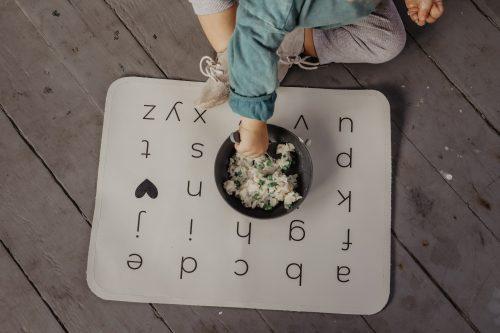 Handmade Alphabet Leather Place Mats for Kids