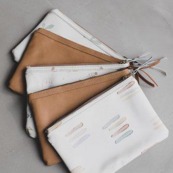 Vegan Leather Clutch Bag