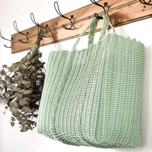 Handwoven Sage Green Tote Bag
