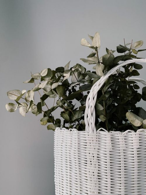 Blanc White Handwoven Tote Bag