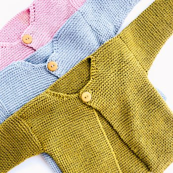 Button Up Wool Baby Jersey